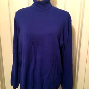 🌟CHICO'S Royal Blue Turtle Neck Size:XL L/S BNWT